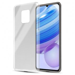Cadorabo Hülle kompatibel mit Xiaomi Redmi 10X 5G in VOLL TRANSPARENT Handyhülle aus flexiblem TPU Silikon Silikonhülle Schutzhülle Ultra Slim Soft Back Cover Case Bumper