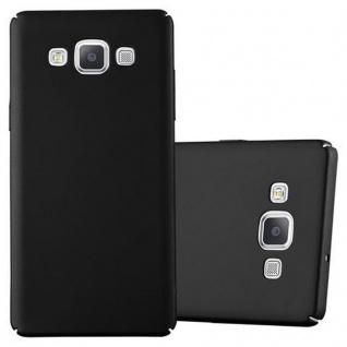 Cadorabo Hülle für Samsung Galaxy A5 2015 in METALL SCHWARZ - Hardcase Handyhülle aus Plastik gegen Kratzer und Stöße - Schutzhülle Bumper Ultra Slim Back Case Hard Cover