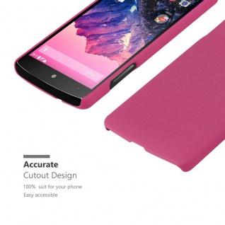 Cadorabo Hülle für LG Nexus 5 in FROSTY PINK - Hardcase Handyhülle aus Plastik gegen Kratzer und Stöße - Schutzhülle Bumper Ultra Slim Back Case Hard Cover - Vorschau 5