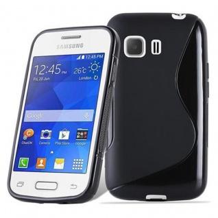 Cadorabo Hülle für Samsung Galaxy YOUNG in OXID SCHWARZ ? Handyhülle aus flexiblem TPU Silikon ? Silikonhülle Schutzhülle Ultra Slim Soft Back Cover Case Bumper