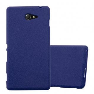 Cadorabo Hülle für Sony Xperia M2 / M2 Aqua in FROST DUNKEL BLAU - Handyhülle aus flexiblem TPU Silikon - Silikonhülle Schutzhülle Ultra Slim Soft Back Cover Case Bumper