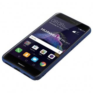 Cadorabo Hülle für Huawei P8 LITE 2017 in METALL BLAU - Hardcase Handyhülle aus Plastik gegen Kratzer und Stöße - Schutzhülle Bumper Ultra Slim Back Case Hard Cover - Vorschau 3