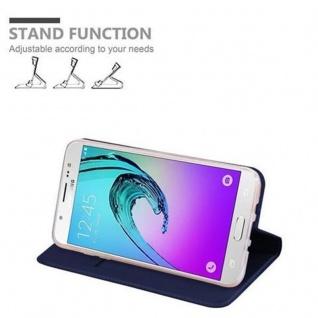 Cadorabo Hülle für Samsung Galaxy J7 2016 in CLASSY DUNKEL BLAU - Handyhülle mit Magnetverschluss, Standfunktion und Kartenfach - Case Cover Schutzhülle Etui Tasche Book Klapp Style - Vorschau 4