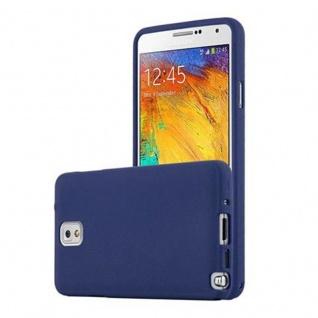 Cadorabo Hülle für Samsung Galaxy NOTE 3 in FROST DUNKEL BLAU - Handyhülle aus flexiblem TPU Silikon - Silikonhülle Schutzhülle Ultra Slim Soft Back Cover Case Bumper