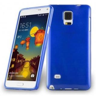 Cadorabo Hülle für Samsung Galaxy NOTE 4 in BLAU - Handyhülle aus flexiblem TPU Silikon - Silikonhülle Schutzhülle Ultra Slim Soft Back Cover Case Bumper