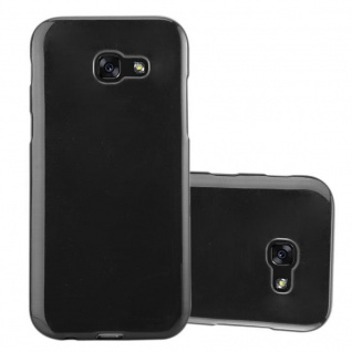 Cadorabo Hülle für Samsung Galaxy A5 2017 in SCHWARZ - Handyhülle aus flexiblem TPU Silikon - Silikonhülle Schutzhülle Ultra Slim Soft Back Cover Case Bumper