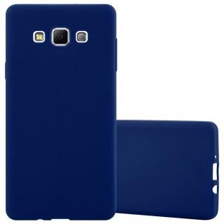 Cadorabo Hülle für Samsung Galaxy A7 2015 in CANDY DUNKEL BLAU - Handyhülle aus flexiblem TPU Silikon - Silikonhülle Schutzhülle Ultra Slim Soft Back Cover Case Bumper