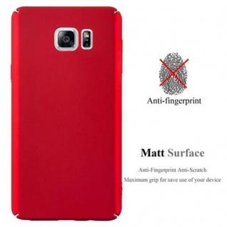 Cadorabo Hülle für Samsung Galaxy NOTE 5 in METALL ROT ? Hardcase Handyhülle aus Plastik gegen Kratzer und Stöße ? Schutzhülle Bumper Ultra Slim Back Case Hard Cover - Vorschau 2