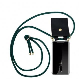 Cadorabo Handy Kette für OnePlus 6T in ARMEE GRÜN Silikon Necklace Umhänge Hülle mit Gold Ringen, Kordel Band Schnur und abnehmbarem Etui Schutzhülle