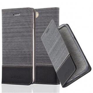 Cadorabo Hülle für Apple iPhone 8 PLUS / 7 PLUS / 7S PLUS in GRAU SCHWARZ - Handyhülle mit Magnetverschluss, Standfunktion und Kartenfach - Case Cover Schutzhülle Etui Tasche Book Klapp Style