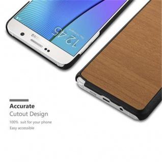 Cadorabo Hülle für Samsung Galaxy NOTE 5 in WOODY BRAUN ? Hardcase Handyhülle aus Plastik gegen Kratzer und Stöße ? Schutzhülle Bumper Ultra Slim Back Case Hard Cover - Vorschau 2