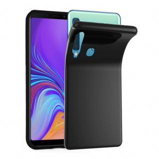 Cadorabo Hülle für Samsung Galaxy A9 2018 in SCHWARZ - Handyhülle aus flexiblem TPU Silikon - Silikonhülle Schutzhülle Ultra Slim Soft Back Cover Case Bumper