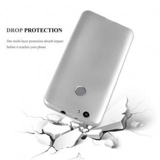 Cadorabo Hülle für Huawei NOVA in METALLIC SILBER - Handyhülle aus flexiblem TPU Silikon - Silikonhülle Schutzhülle Ultra Slim Soft Back Cover Case Bumper - Vorschau 3