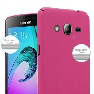Cadorabo Hülle für Samsung Galaxy J3 / J3 DUOS 2016 in FROSTY PINK - Hardcase Handyhülle aus Plastik gegen Kratzer und Stöße - Schutzhülle Bumper Ultra Slim Back Case Hard Cover - Vorschau 3
