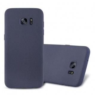 Cadorabo Hülle für Samsung Galaxy S7 EDGE in FROST DUNKEL BLAU Handyhülle aus flexiblem TPU Silikon Silikonhülle Schutzhülle Ultra Slim Soft Back Cover Case Bumper