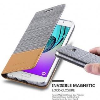 Cadorabo Hülle für Samsung Galaxy A5 2016 in HELL GRAU BRAUN - Handyhülle mit Magnetverschluss, Standfunktion und Kartenfach - Case Cover Schutzhülle Etui Tasche Book Klapp Style