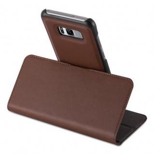 Cadorabo Hülle für Samsung Galaxy S8 - Hülle in ANTIK BRAUN ? Handyhülle im 2-in-1 Design mit Standfunktion und Kartenfach - Hard Case Book Etui Schutzhülle Tasche Cover - Vorschau 4