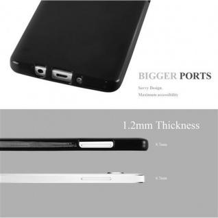 Cadorabo Hülle für Samsung Galaxy A5 2015 in JELLY SCHWARZ ? Handyhülle aus flexiblem TPU Silikon ? Silikonhülle Schutzhülle Ultra Slim Soft Back Cover Case Bumper - Vorschau 2