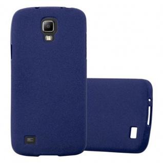 Cadorabo Hülle für Samsung Galaxy S4 ACTIVE in FROST DUNKEL BLAU - Handyhülle aus flexiblem TPU Silikon - Silikonhülle Schutzhülle Ultra Slim Soft Back Cover Case Bumper