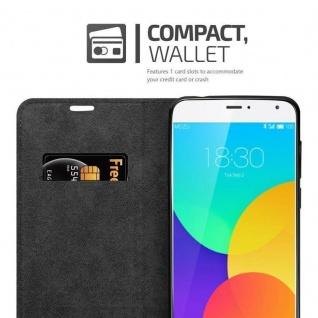 Cadorabo Hülle für MEIZU MX4 in APFEL ROT Handyhülle mit Magnetverschluss, Standfunktion und Kartenfach Case Cover Schutzhülle Etui Tasche Book Klapp Style - Vorschau 4