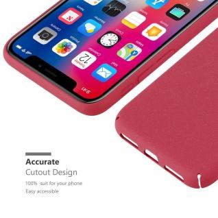 Cadorabo Hülle für Apple iPhone X / XS in FROSTY ROT - Hardcase Handyhülle aus Plastik gegen Kratzer und Stöße - Schutzhülle Bumper Ultra Slim Back Case Hard Cover - Vorschau 3