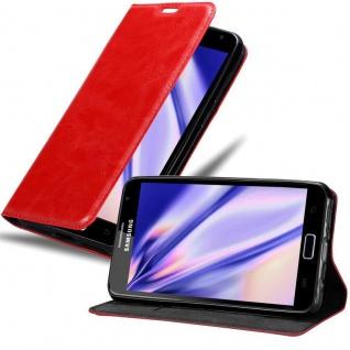 Cadorabo Hülle für Samsung Galaxy NOTE 1 in APFEL ROT Handyhülle mit Magnetverschluss, Standfunktion und Kartenfach Case Cover Schutzhülle Etui Tasche Book Klapp Style