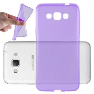 Cadorabo Hülle für Samsung Galaxy GRAND 3 in TRANSPARENT LILA - Handyhülle aus flexiblem TPU Silikon - Silikonhülle Schutzhülle Ultra Slim Soft Back Cover Case Bumper