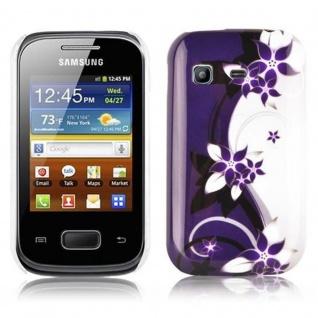 Cadorabo - Hard Cover für Samsung Galaxy POCKET - Case Cover Schutzhülle Bumper im Design: LILA VEILCHEN