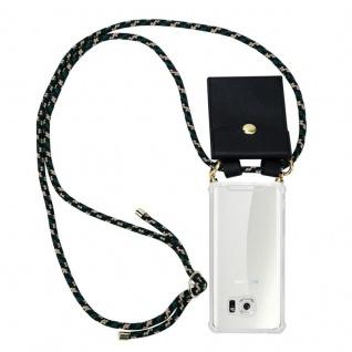 Cadorabo Handy Kette für Samsung Galaxy S6 in CAMOUFLAGE ? Silikon Necklace Umhänge Hülle mit Gold Ringen, Kordel Band Schnur und abnehmbarem Etui ? Schutzhülle