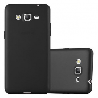 Cadorabo Hülle für Samsung Galaxy GRAND PRIME in METALL SCHWARZ ? Hardcase Handyhülle aus Plastik gegen Kratzer und Stöße ? Schutzhülle Bumper Ultra Slim Back Case Hard Cover