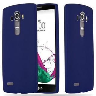 Cadorabo Hülle für LG G4 / G4 PLUS in CANDY DUNKEL BLAU - Handyhülle aus flexiblem TPU Silikon - Silikonhülle Schutzhülle Ultra Slim Soft Back Cover Case Bumper