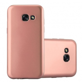 Cadorabo Hülle für Samsung Galaxy A3 2017 in METALL ROSE GOLD - Hardcase Handyhülle aus Plastik gegen Kratzer und Stöße - Schutzhülle Bumper Ultra Slim Back Case Hard Cover