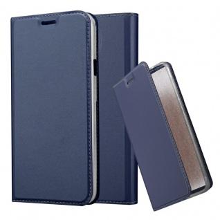 Cadorabo Hülle für Samsung Galaxy S4 Active in CLASSY DUNKEL BLAU - Handyhülle mit Magnetverschluss, Standfunktion und Kartenfach - Case Cover Schutzhülle Etui Tasche Book Klapp Style