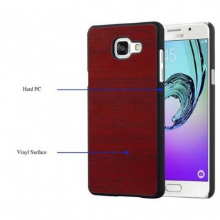 Cadorabo Hülle für Samsung Galaxy A3 2016 in WOODY ROT ? Hardcase Handyhülle aus Plastik gegen Kratzer und Stöße ? Schutzhülle Bumper Ultra Slim Back Case Hard Cover - Vorschau 4