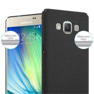 Cadorabo Hülle für Samsung Galaxy A5 2015 in FROSTY SCHWARZ - Hardcase Handyhülle aus Plastik gegen Kratzer und Stöße - Schutzhülle Bumper Ultra Slim Back Case Hard Cover - Vorschau 5