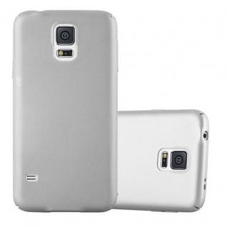 Cadorabo Hülle für Samsung Galaxy S5 / S5 NEO in METALL SILBER - Hardcase Handyhülle aus Plastik gegen Kratzer und Stöße - Schutzhülle Bumper Ultra Slim Back Case Hard Cover