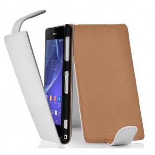 Cadorabo Hülle für Sony Xperia Z2 in MAGNESIUM WEIß - Handyhülle im Flip Design aus strukturiertem Kunstleder - Case Cover Schutzhülle Etui Tasche Book Klapp Style