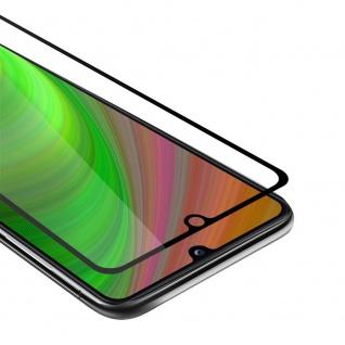 Cadorabo Vollbild Panzer Folie für Samsung Galaxy A31 Schutzfolie in TRANSPARENT mit SCHWARZ Gehärtetes (Tempered) Display-Schutzglas in 9H Härte mit 3D Touch