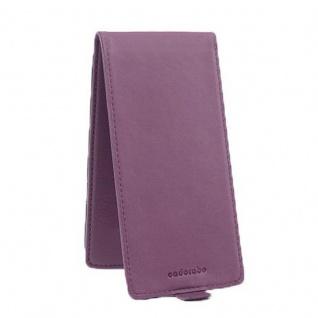 Cadorabo Hülle für Sony Xperia X in BORDEAUX LILA - Handyhülle im Flip Design aus strukturiertem Kunstleder - Case Cover Schutzhülle Etui Tasche Book Klapp Style - Vorschau 3