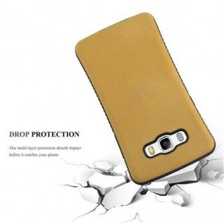 Cadorabo Hülle für Samsung Galaxy J5 2016 - Hülle in GOLD BRAUN ? Small Waist Handyhülle mit rutschfestem Gummi-Rücken - Hard Case TPU Silikon Schutzhülle - Vorschau 2