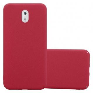 Cadorabo Hülle für Nokia 3 2017 in FROSTY ROT - Hardcase Handyhülle aus Plastik gegen Kratzer und Stöße - Schutzhülle Bumper Ultra Slim Back Case Hard Cover