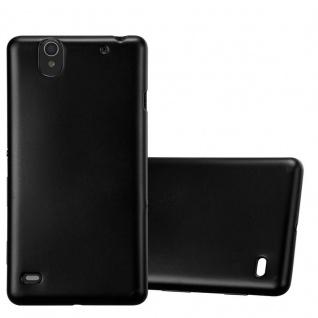 Cadorabo Hülle für Sony Xperia C4 in METALLIC SCHWARZ - Handyhülle aus flexiblem TPU Silikon - Silikonhülle Schutzhülle Ultra Slim Soft Back Cover Case Bumper