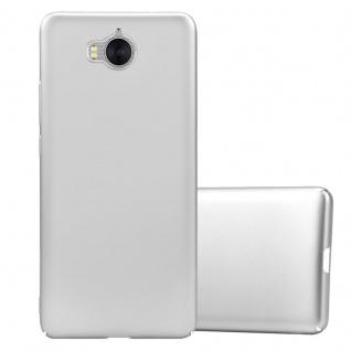 Cadorabo Hülle für Huawei Y6 2017 in METALL SILBER Hardcase Handyhülle aus Plastik gegen Kratzer und Stöße Schutzhülle Bumper Ultra Slim Back Case Hard Cover
