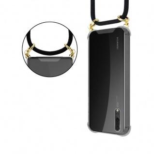 Cadorabo Handy Kette für Huawei P20 in SCHWARZ ? Silikon Necklace Umhänge Hülle mit Gold Ringen, Kordel Band Schnur und abnehmbarem Etui ? Schutzhülle - Vorschau 2