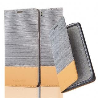 Cadorabo Hülle für OnePlus 5 in HELL GRAU BRAUN - Handyhülle mit Magnetverschluss, Standfunktion und Kartenfach - Case Cover Schutzhülle Etui Tasche Book Klapp Style