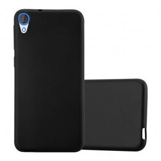 Cadorabo Hülle für HTC DESIRE 820 in METALLIC SCHWARZ - Handyhülle aus flexiblem TPU Silikon - Silikonhülle Schutzhülle Ultra Slim Soft Back Cover Case Bumper