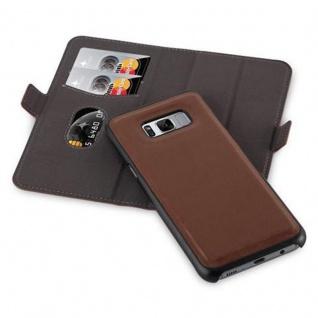 Cadorabo Hülle für Samsung Galaxy S8 - Hülle in ANTIK BRAUN ? Handyhülle im 2-in-1 Design mit Standfunktion und Kartenfach - Hard Case Book Etui Schutzhülle Tasche Cover - Vorschau 2