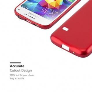 Cadorabo Hülle für Samsung Galaxy S5 MINI / S5 MINI DUOS in METALLIC ROT - Handyhülle aus flexiblem TPU Silikon - Silikonhülle Schutzhülle Ultra Slim Soft Back Cover Case Bumper - Vorschau 2