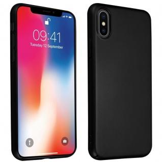 Cadorabo Hülle für Apple iPhone X / XS in METALL SCHWARZ - Hardcase Handyhülle aus Plastik gegen Kratzer und Stöße - Schutzhülle Bumper Ultra Slim Back Case Hard Cover