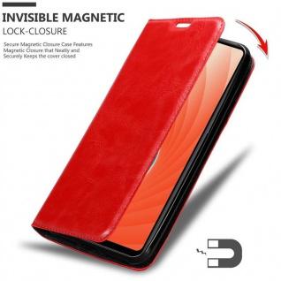 Cadorabo Hülle für Huawei MATE 20 in APFEL ROT Handyhülle mit Magnetverschluss, Standfunktion und Kartenfach Case Cover Schutzhülle Etui Tasche Book Klapp Style - Vorschau 3